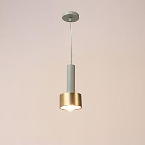 abordables Plafonniers-Lampe suspendue Lumière dirigée vers le bas Plaqué Finitions Peintes Métal Mat 220V Ampoule non incluse