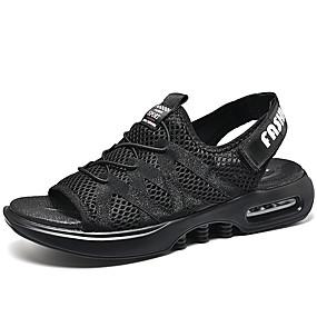 baratos Sandálias Masculinas-Homens Sapatos Confortáveis Com Transparência Primavera Verão Casual Sandálias Respirável Preto