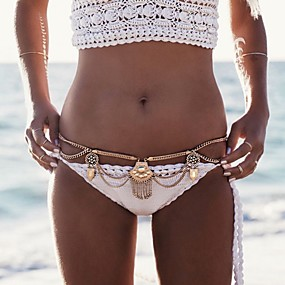 economico -0.5-Catenina girovita Donne, Alla moda, Stile Boho Per donna Oro / Argento Gioielli per corpo Per Serata / Bikini