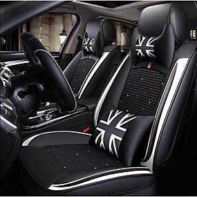 cheap 90%OFF-ODEER Car Seat Cushions Seat Covers Black / White Textile / Artificial Leather Common for universal All years All Models