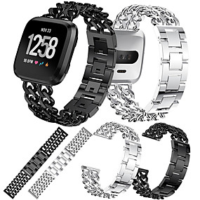 cheap Smartwatch Accessories-Watch Band for Fitbit Versa / Fitbit Versa Lite Fitbit Modern Buckle Metal / Stainless Steel Wrist Strap