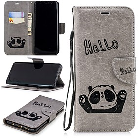 cheap Cellphone Case-Case For Samsung Galaxy S9 Plus / S9 Wallet / Card Holder / with Stand Full Body Cases Panda Hard PU Leather for S9 / S9 Plus / S8 Plus
