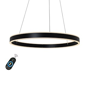 cheap Home Improvement-UMEI™ Circular Chandelier Ambient Light Painted Finishes Aluminum Dimmable 110-120V / 220-240V Warm White / White / Dimmable With Remote Control Bulb Included / LED Integrated / FCC