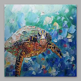 hesapli Hayvan Resimleri-Hang-Boyalı Yağlıboya Resim El-Boyalı - Soyut Modern Iç çerçeve dahil / Gerilmiş kanvas