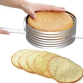 billige Topsællerter-Bakeware verktøy Rustfritt Stål + A-klasse ABS / Rustfritt stål Multifunktion / GDS Brød / Kake / Til Kake Rund Cake Moulds / Kakekniv 1pc