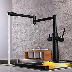 preiswerte Renovierung-Armatur für die Küche - Zwei Griffe Ein Loch Lackierte Oberflächen Standard Spout / Pot Filler deckenmontiert Moderne Kitchen Taps