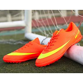 baratos Sapatos Esportivos Masculinos-Homens Sapatos Confortáveis Couro Ecológico Primavera & Outono Tênis Futebol Preto / Laranja / Amarelo