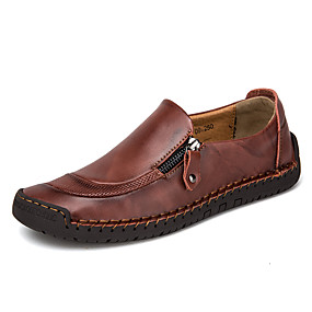 cheap Men's Slip-ons & Loafers-Men's Comfort Shoes Nappa Leather / Cowhide Spring & Summer Loafers & Slip-Ons Black / Light Brown / Dark Brown / EU40