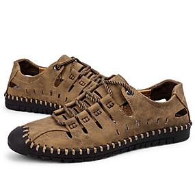 voordelige Wijdere maten schoenen-Heren Comfort schoenen Imitatieleer / PU Zomer Sportief Sandalen Non-uitglijden Zwart / Bruin / Khaki / ulko-