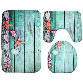 preiswerte Läufer und Teppiche-3 Stück Modern Badvorleger 100g / m2 Polyester gestricktes Stretch Kreativ / Tier Irregulär Niedlich