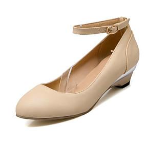 baratos Mocassins Femininos-Mulheres Sapatos de Barco Sapatos Confortáveis Salto Baixo Camurça / Couro Ecológico Primavera Bege / Rosa claro / Azul Claro