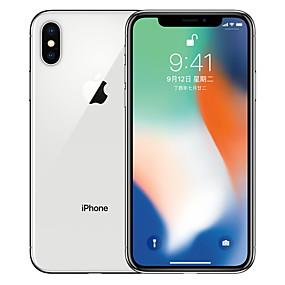baratos Apple-Apple iPhone X A1865 5.8 polegada 256GB Celular 4G - Reformado(Prata) / 12
