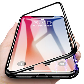 d17e673899c Funda Para Apple iPhone X / iPhone 7 Traslúcido / Magnética Funda de Cuerpo  Entero Un Color Dura Vidrio Templado / Metal para iPhone X / iPhone 8 Plus  ...
