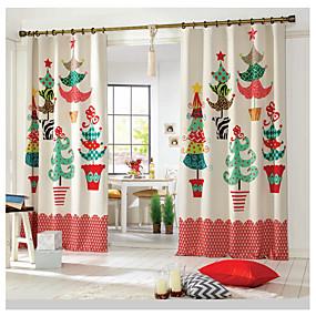 cheap 3D Curtains-Christmas 3D Curtains One Panel Curtain / Blackout / Bedroom