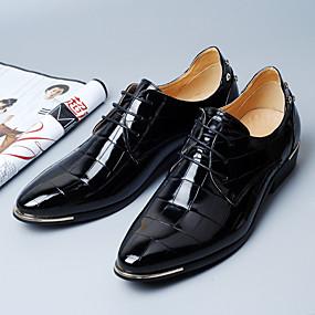 baratos Oxfords Masculinos-Homens Sapatos formais Microfibra Primavera Negócio Oxfords Preto / Vermelho / Azul