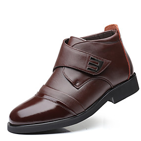 baratos Botas Masculinas-Homens Sapatos Confortáveis Couro Sintético Inverno Vintage / Casual Botas Manter Quente Botas Curtas / Ankle Preto / Marron / Ao ar livre / Botas de Neve