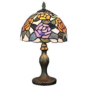 abordables Lampe Tiffany-Tiffany Lampes ambiantes / Décorative Lampe de Table Pour Bureau / Bureau de maison / Magasins / Cafés Résine 110-120V / 220-240V