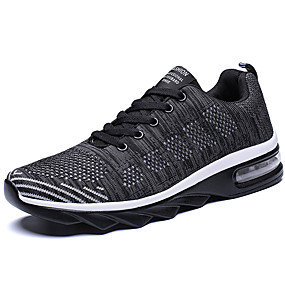 cheap Running Shoes-Men's Comfort Shoes Knit Spring Sporty / Casual Athletic Shoes Running Shoes Massage Black / Black / Red / Black / Blue