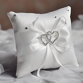 povoljno Darovi i pokloni za zabave-Običan saten Štras / Uzde Saten ring pillow Monogram Sva doba