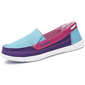 voordelige Damesschoenen met platte hak-Dames Espadrilles Canvas Lente & Herfst Sportief / Informeel Platte schoenen Platte hak Rood / Groen / Blauw