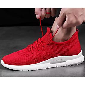 hesapli Erkek Atletik Ayakkabıları-Erkek Ayakkabı Örümcek Ağı Yaz Atletik Ayakkabılar Koşu Dış mekan için Beyaz / Siyah / Kırmzı