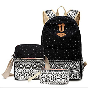 povoljno Cipele i torbe-Žene Patent-zatvarač Platno Bag Setovi Kompleti za vrećice 3 kom Sky blue / Žutomrk / Navy Plava