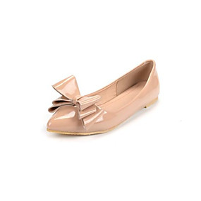 voordelige Damesschoenen met platte hak-Dames Comfort schoenen Lakleer Lente Platte schoenen Platte hak Zwart / Rood / Amandel