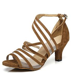 8a6e2fdfa078 Γυναικεία Παπούτσια χορού λάτιν Λουστρίν Τακούνια Κόψιμο Τακούνι καμπάνα  Παπούτσια Χορού Μαύρο / Κίτρινο / Κόκκινο