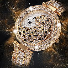 a247807fc رخيصةأون -0.5-نسائي ساعة المعصم الماس ووتش ساعة ذهبية ياباني كوارتز ياباني  ستانلس ستيل