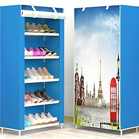 baratos Sapateiras & Cabides de Sapato-Sapateiras & Cabides Tecido TNT 18 pares Unisexo Azul / Marron / Rosa