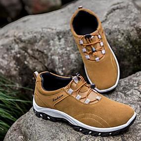 baratos Tênis Masculino-Homens Sapatos Confortáveis Camurça / Couro Ecológico Outono & inverno Casual Tênis Respirável Preto / Amarelo / Azul / Ao ar livre