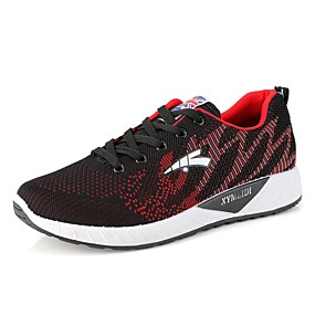 baratos Sapatos Esportivos Masculinos-Homens Sapatos Confortáveis Couro Ecológico Inverno Tênis Caminhada Laranja / Vermelho / Azul
