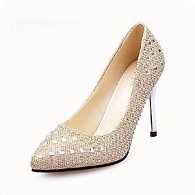 ราคาถูก รองเท้าและกระเป๋า-สำหรับผู้หญิง ส้น Stiletto หนังเทียม ฤดูใบไม้ผลิ / ฤดูร้อน ดำ / เงิน / ทอง / พรรคและเย็น / EU39