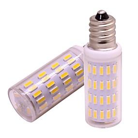 billige Kornpærer med LED-2pcs 4 W 360 lm E12 LED-kornpærer 63 LED perler SMD 4014 Nytt Design Varm hvit / Kjølig hvit 12 V
