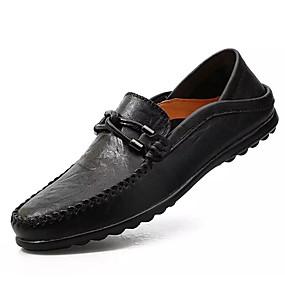 babcc00f55 Ανδρικά Παπούτσια άνεσης Δερμάτινο Άνοιξη   Χειμώνας Μοκασίνια    Ευκολόφορετα Μαύρο   Ανοικτό Καφέ   Σκούρο καφέ
