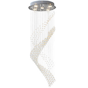 cheap 70% OFF-5-Light Pendant Light Downlight Electroplated Metal Crystal, LED 110-120V / 220-240V Warm White / Cold White Bulb Included / GU10
