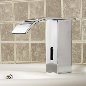 cheap Induction Faucets-Faucet Set - Sensor Electroplated Other Hands free One HoleBath Taps