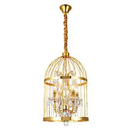 abordables Plafonniers-ZHISHU 4 lumières Cylindre / Lanterne Lampe suspendue Lumière dirigée vers le haut Plaqué Métal Créatif 110-120V / 220-240V