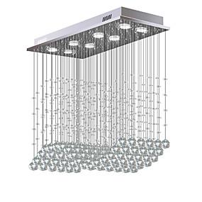 billige Taklamper-8-Light Krystall Lysekroner Nedlys galvanisert Metall Krystall, Pære Inkludert, designere 110-120V / 220-240V Varm Hvit / Kald Hvit Pære Inkludert / GU10