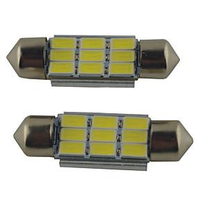 billige Billamper-2pcs 39mm / 36mm / 41mm Bil Elpærer 2W SMD 5630 215lm 9 Leselys