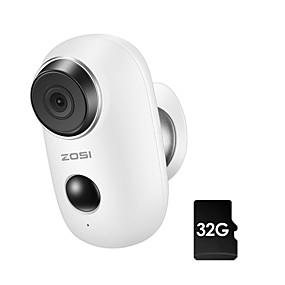 billige Innendørs IP Nettverkskameraer-ZOSI 1NC-2811MW32-W 1 mp IP-kamera Innendørs Brukerstøtte 128 GB