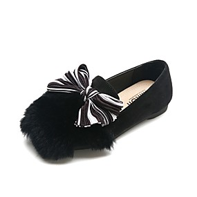 ad302bca0d2b Girls  Shoes Faux Fur Fall Comfort Loafers   Slip-Ons for Teenager Black    Brown