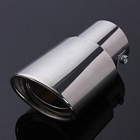 Недорогие Декор на заднюю часть кузова авто-нержавеющая сталь хвост автомобиля задний хром круглый наконечник выхлопной трубы глушителя