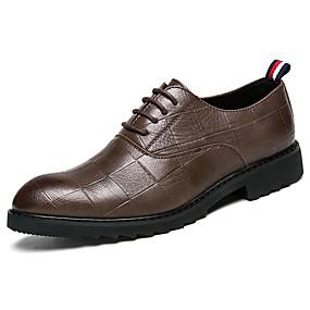 Χαμηλού Κόστους Αντρικά Oxford-Ανδρικά Τα επίσημα παπούτσια PU Φθινόπωρο Oxfords Μαύρο / Καφέ