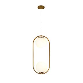povoljno Sales-2-Light Cirkularno Privjesak Svjetla Ambient Light Electroplated Metal Glass New Design 110-120V / AC110-240V