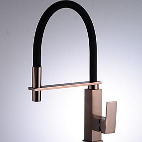 povoljno Kuhinjske slavine-Kuhinja pipa - Jedan Ručka jedna rupa Nickel Brushed Visok / High Arc Običan Kitchen Taps