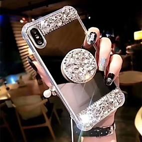 ieftine Accesorii Apple-Maska Pentru Apple iPhone XS Max / iPhone 6 Anti Șoc / Cu Stand Capac Spate Ștras Greu Teracotă pentru iPhone XS / iPhone XR / iPhone XS Max