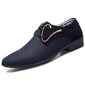 baratos Oxfords Masculinos-Homens Sapatos Confortáveis Couro Ecológico Primavera & Outono Oxfords Branco / Azul