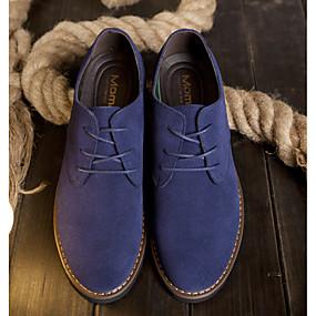 baratos Oxfords Masculinos-Homens Sapatos Confortáveis Camurça Primavera Oxfords Amarelo / Café / Azul
