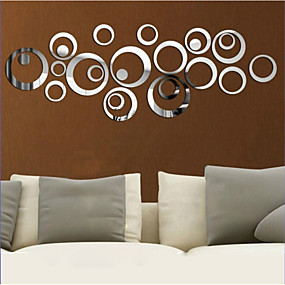 Decorative Wall Stickers   3D Wall Stickers / Mirror Wall Stickers Shapes  Living Room / Bedroom / Kitchen